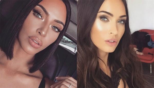 Kim Kardashian e Megan Fox (Foto: Reprodução Instagram)