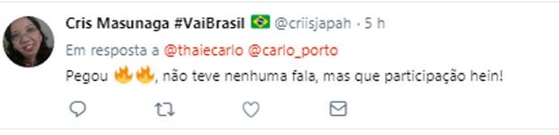 Comentários sobre a participação de Carlo Porto em Onde Nascem os Fortes (Foto: Reprodução/Twitter)