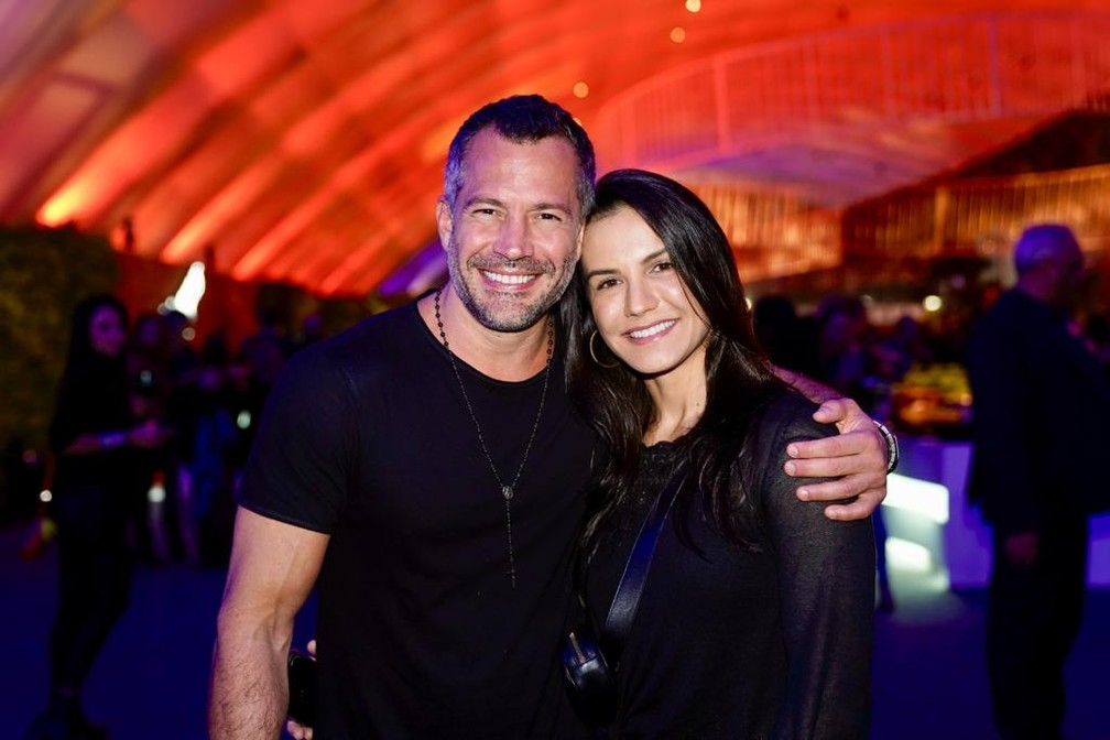 Malvino Salvador e esposa no Rock in Rio  — Foto: Marcos Serra Lima/G1