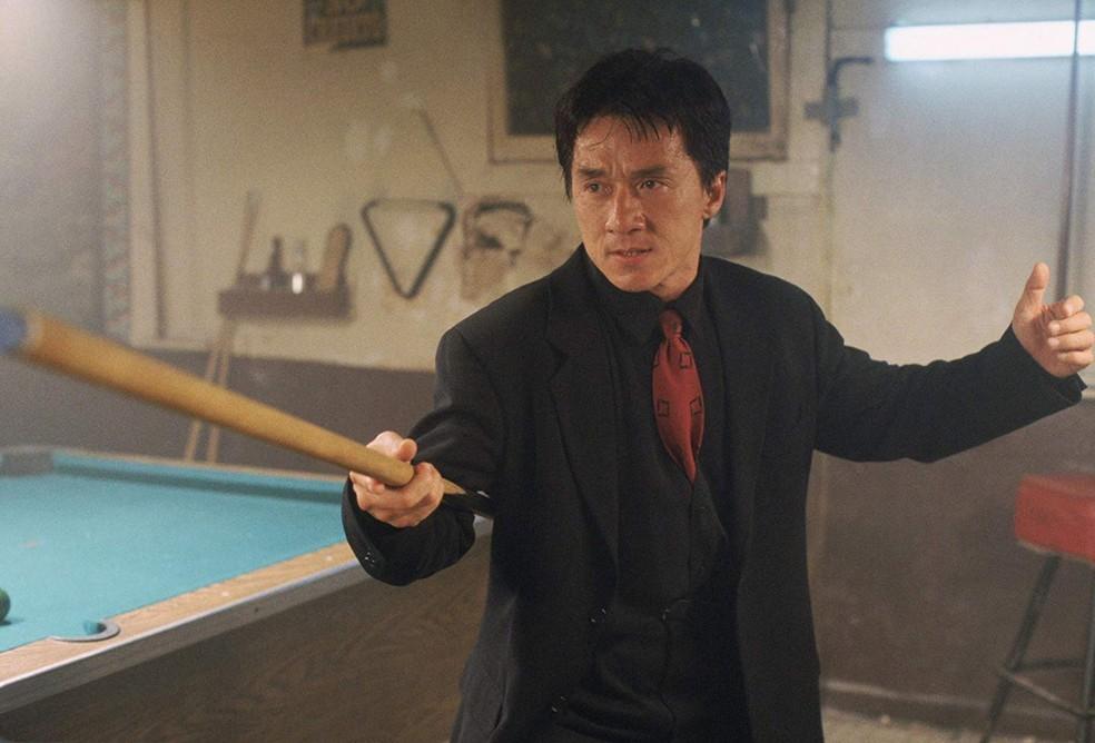 Jackie Chan em cena de 'A hora do rush' — Foto: Divulgação