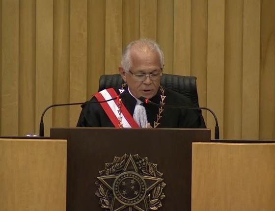 Posse do ministro Brito Pereira como presidente do Tribunal Superior do Trabalho (Foto: Reprodução)