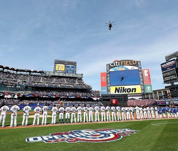 O estádio do New York Mets em dia de partida da equipe (Foto: Instagram)