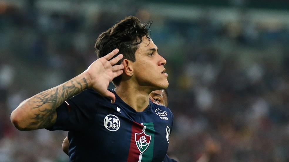 Pedro comemora gol do Fluminense contra o Ceará — Foto: Lucas Merçon/Fluminense