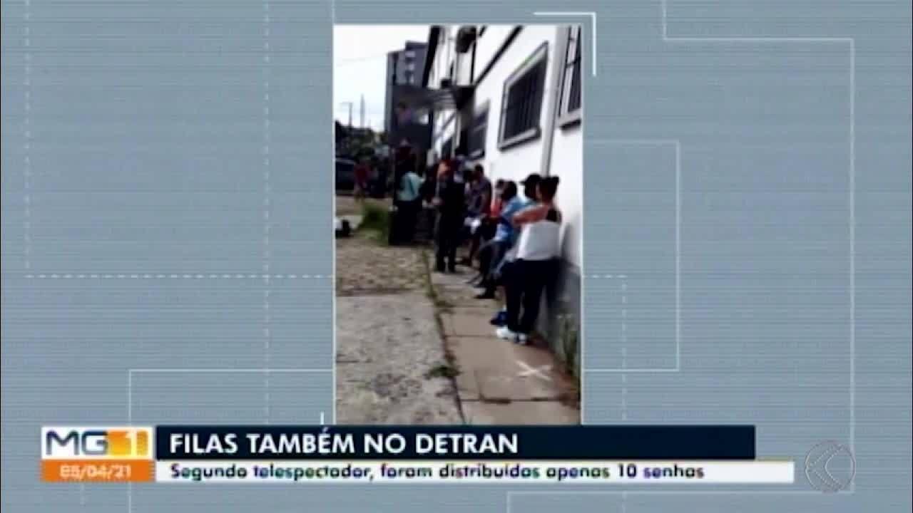 Filas são registradas nas portas de lotéricas, bancos e do Detran em Divinópolis