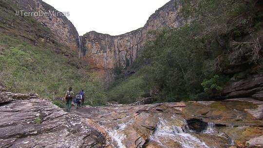 Cachoeira do Tabuleiro é atração turística em Conceição do Mato Dentro