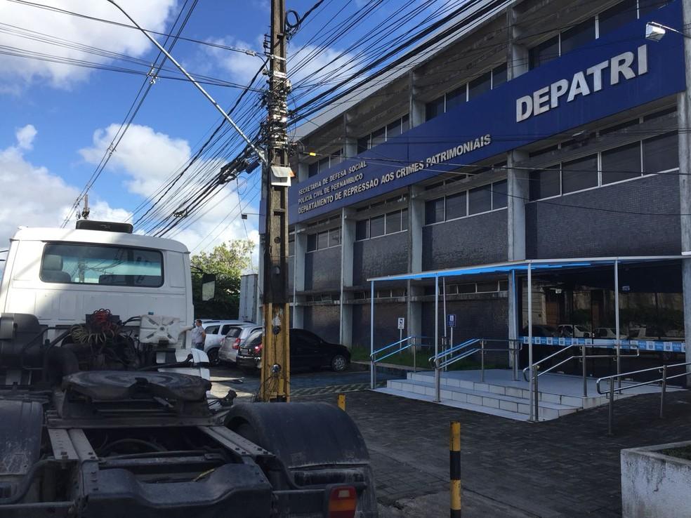 Departamento de Repressão aos Crimes Patrimoniais (Depatri) fica no Recife (Foto: Mônica Silveira/TV Globo)