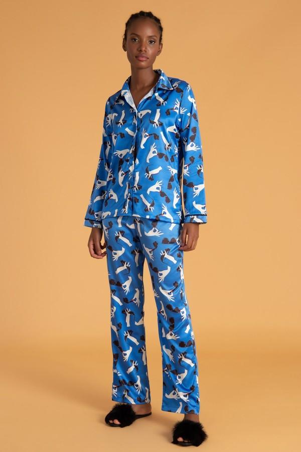 Versão divertida de estampa do pijama La Rouge Belle (R$ 769 no site da marca). (Foto: Reprodução/La Rouge Belle)