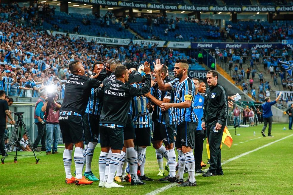 2fc67822a9805 ... Maio azul  Grêmio está invicto nos jogos disputados ao longo do mês —  Foto