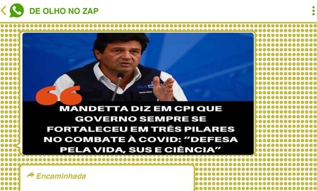 Bolsonaristas disseminaram narrativa de que Mandetta, demitido por Bolsonaro por defender o isolamento social, teria defendido alinhamento do governo federal com a ciência