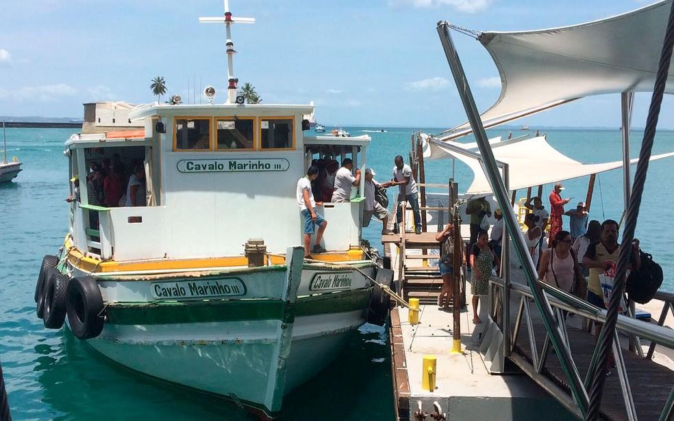 Travessia Salvador-Mar Grande (Foto: Juliana Almirante/G1)