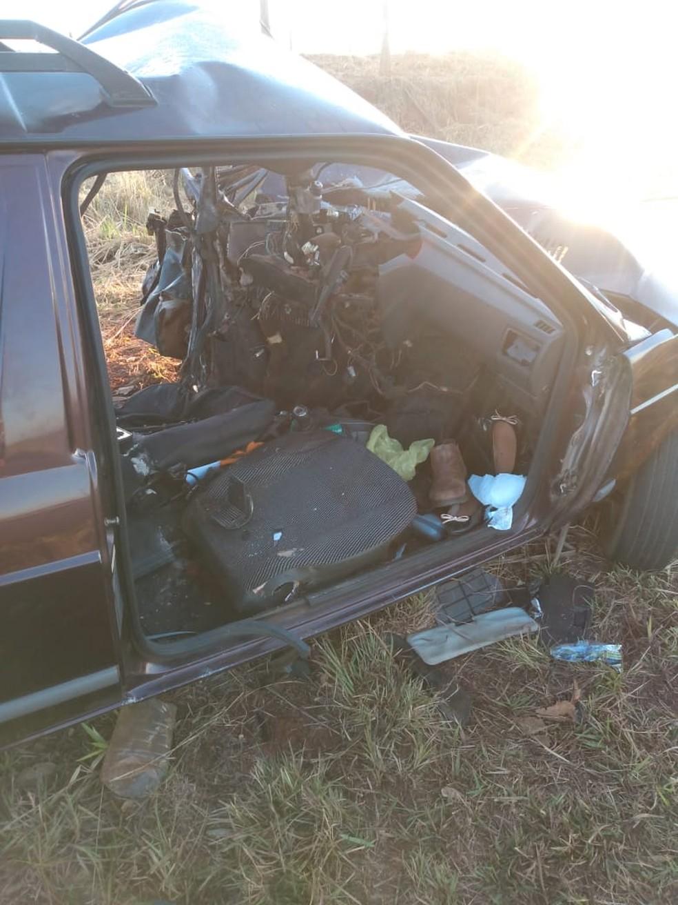 Acidente aconteceu depois de um dos motoristas perder o controle do veículo — Foto: Arquivo Pessoal
