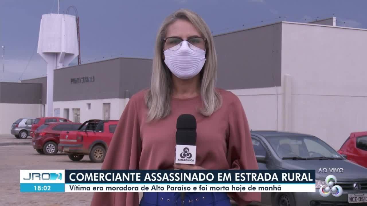 Comerciante é assassinado em estrada rural de Alto Paraíso, RO