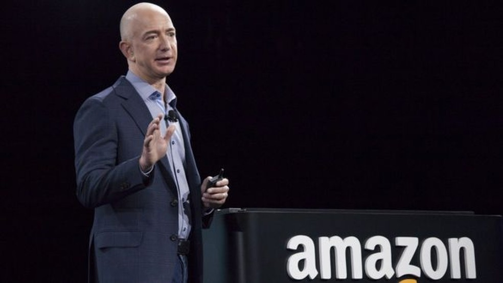 Jeff Bezos, fundador da Amazon, é o homem mais rico do mundo — Foto: Getty Images