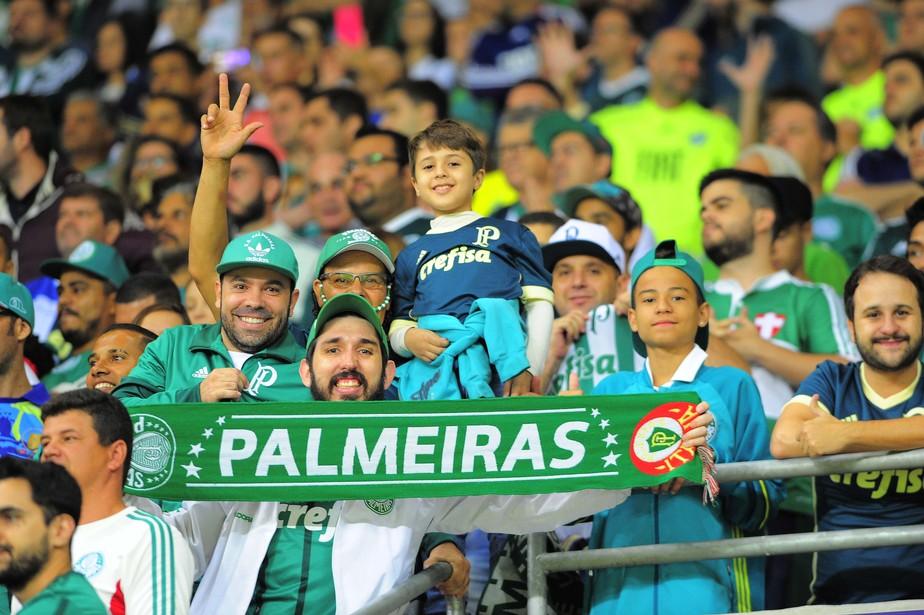 Palmeiras lidera média de pagantes em 2018. Veja a lista com os 20 melhores clubes
