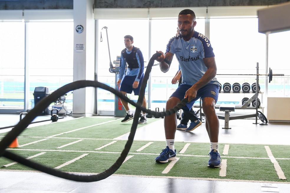 "Paulo Miranda é alternativa ""dupla"" ao Grêmio — Foto: Lucas Uebel/Grêmio"