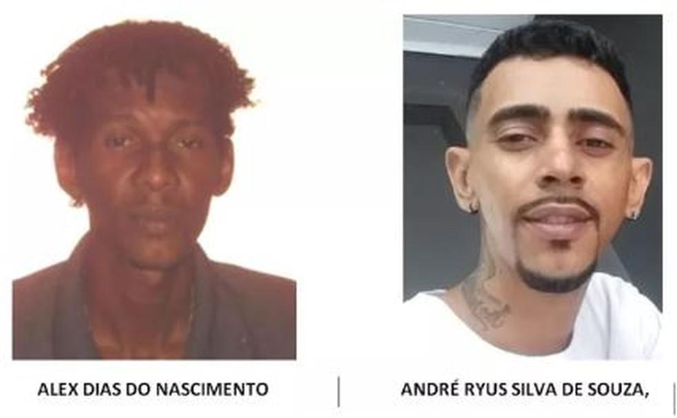Foragidos envolvidos na morte de Daniele Santos Reis em Porto Velho Rondônia — Foto: Polícia Civil / Divulgação