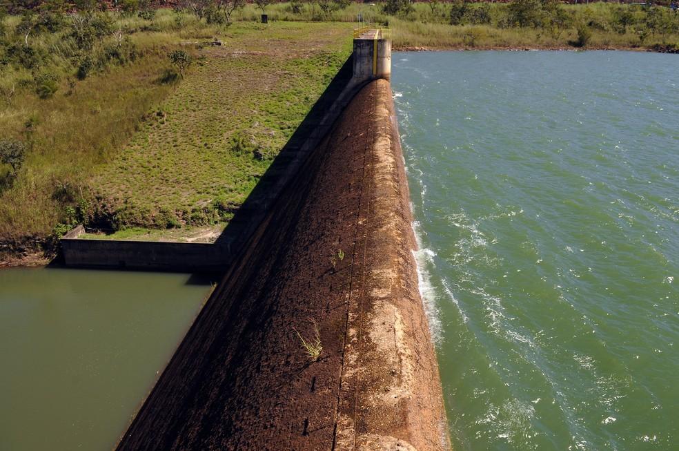 Barragem do Descoberto, no DF, em 3 de maio de 2018 (Foto: Gabriel Jabur/Agência Brasília)