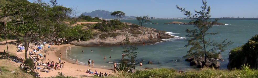 Praia Secreta em Vila Velha, no Espírito Santo — Foto: Arquivo/ TV Gazeta