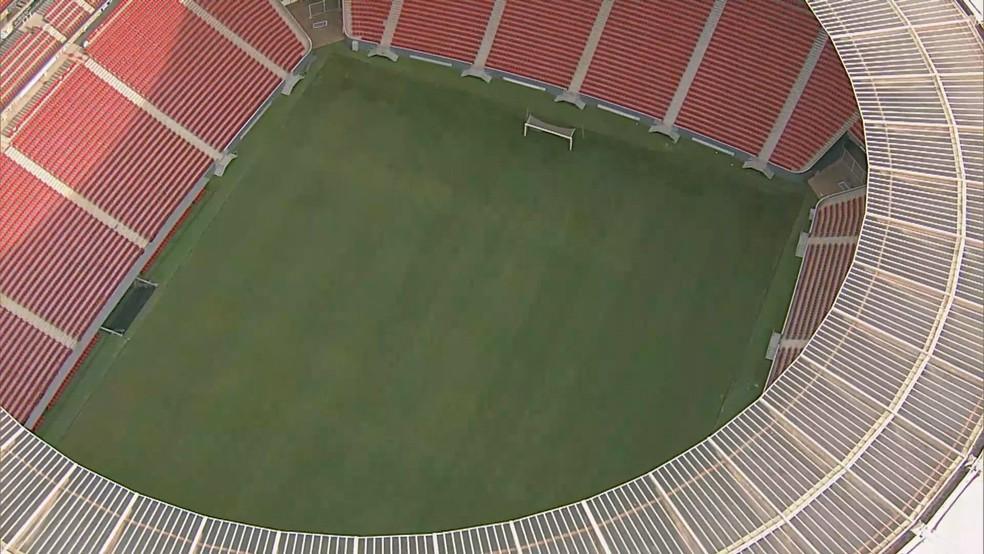 Estádio Nacional Mané Garrincha, em Brasília, vai receber jogos da Copa América; imagem de arquivo — Foto: TV Globo/Reprodução