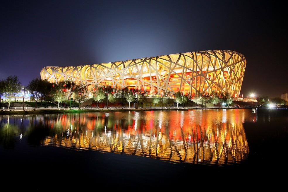 Estádio Ninho do Pássaro em Pequim, na China — Foto: Feng Li / Getty Images