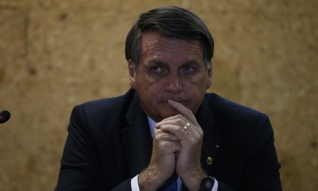 Presidente Jair Bolsonaro em evento no Ministério de Minas e Energia