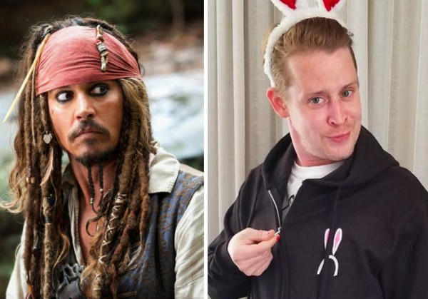 Johnny Depp e Macaulay Culkin (Foto: Reprodução/Instagram)