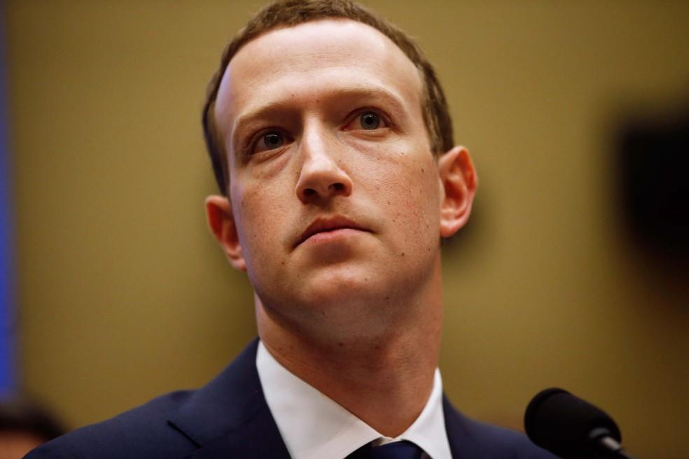 Mark Zuckerberg, presidente-executivo do Facebook, durante audiência na Câmara dos Deputados dos EUA. (Foto: Leah Millis/Reuters)