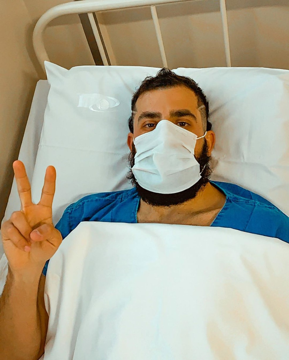 Kaysar Dadour passa por cirurgia e tranquiliza fãs — Foto: Reprodução/Instagram