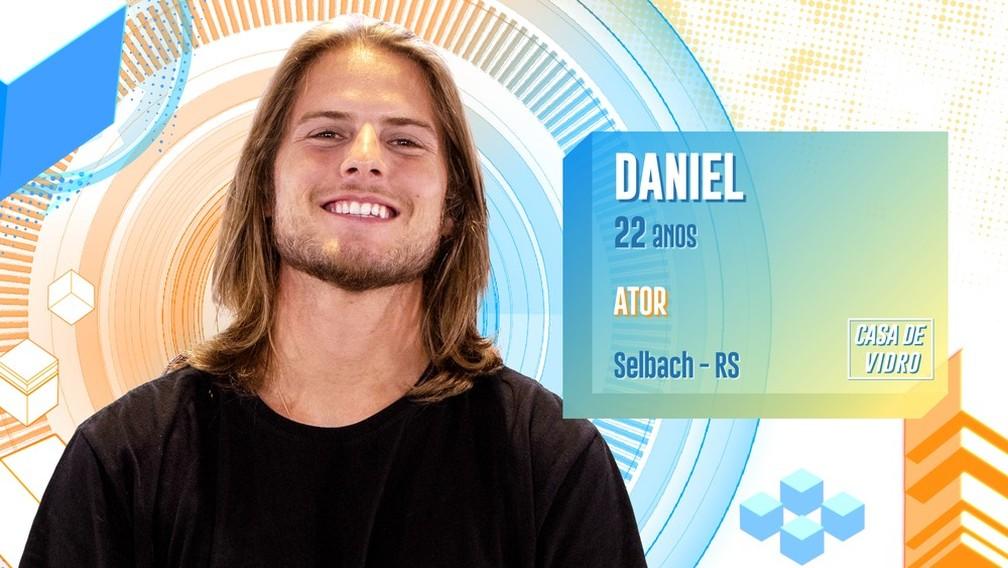 Daniel participa da casa de vidro do 'BBB20' — Foto: Divulgação/Globo