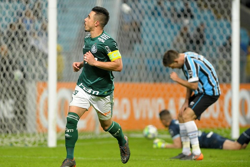 Grêmio foi batido pelo Palmeiras, na Arena (Foto: Ricardo Rímoli/Futura Press)