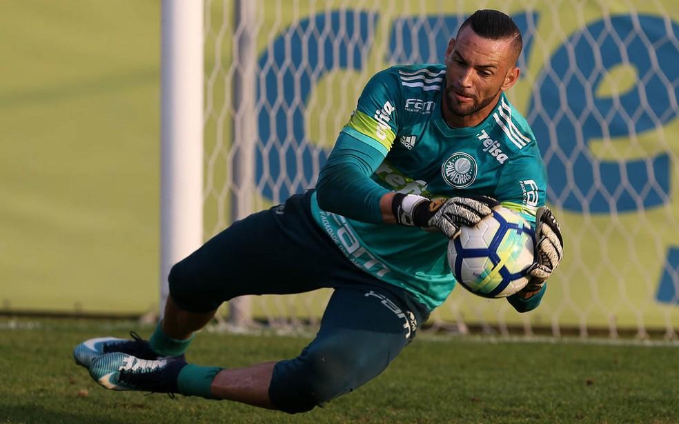 Weverton superou Jailson e Fernando Prass e virou titular (Foto: Cesar Greco/Ag. Palmeiras/Divulgação)