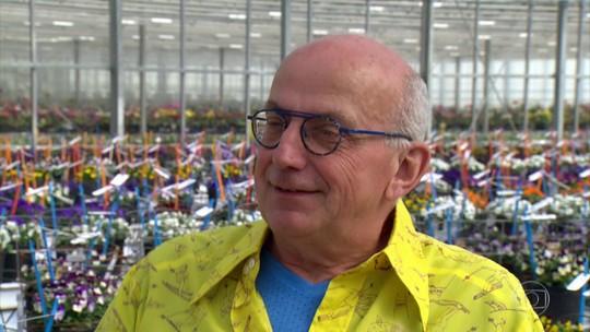 Glória Maria conhece holandês 'mágico das flores' que já inventou mais de 4 mil variedades