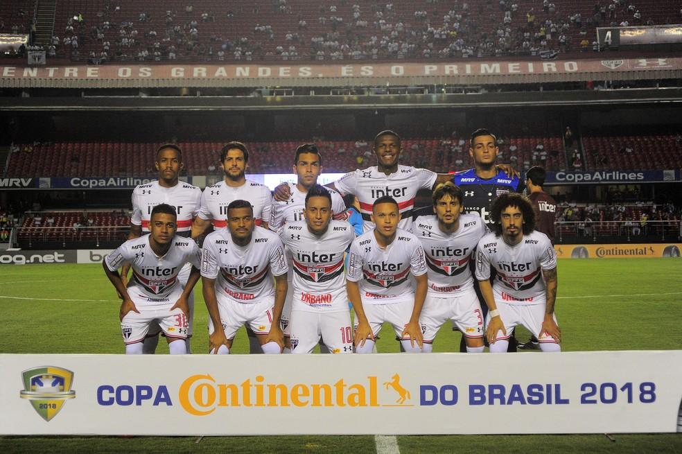 São Paulo bateu o CRB pela Copa do Brasil (Foto: Marcos Ribolli)