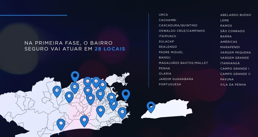 Governo do RJ lança projeto Bairro Seguro em 28 locais para diminuir furtos e roubos