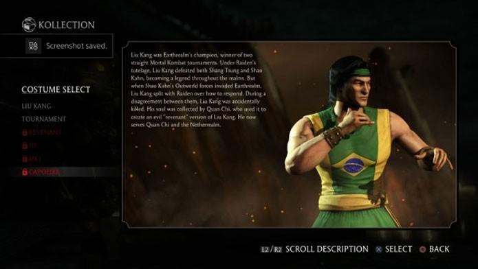 Liu Kang aparece com roupa do Brasil em Mortal Kombat X (Foto: Divulgação)