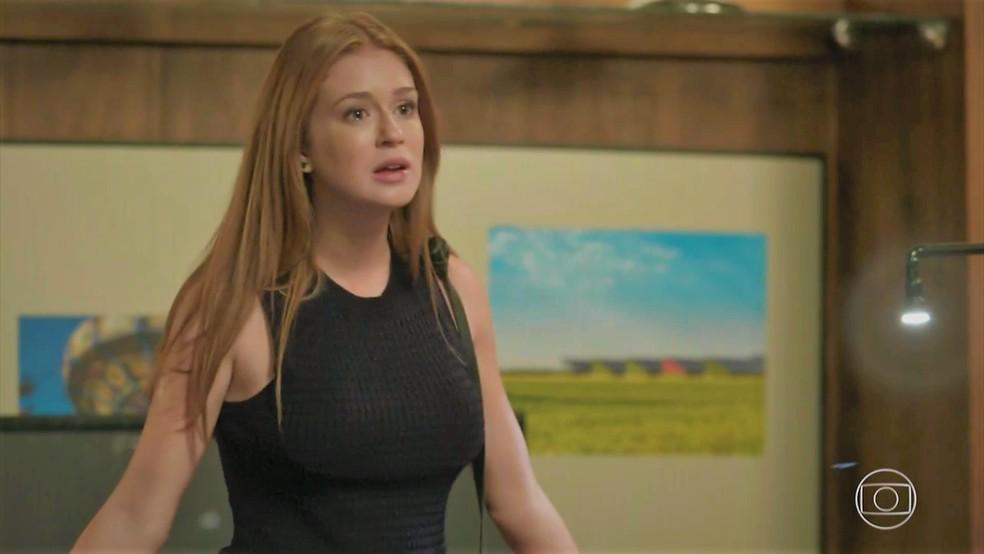 Eliza (Marina Ruy Barbosa) dá fora em Arthur (Fábio Assunção) — Foto: TV Globo