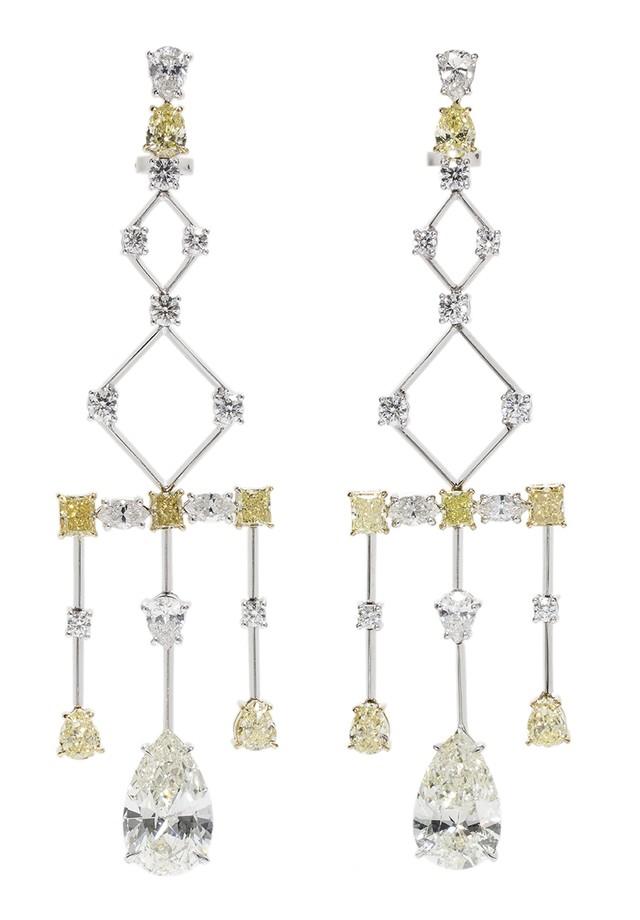 Brincos de diamantes brancos e Fancy Yellow de Ara Vartanian (Foto: Divulgação)