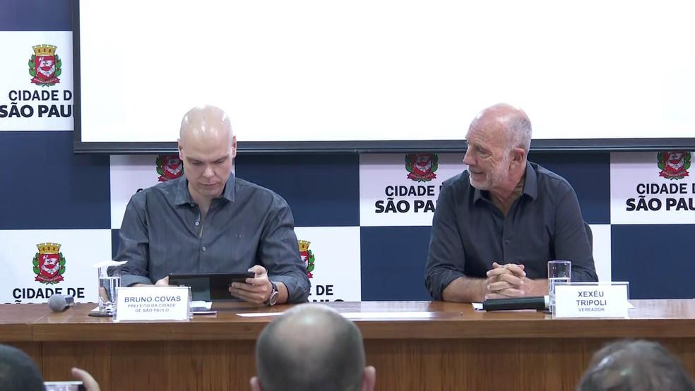 Bruno Covas sanciona lei que proíbe utensílios plásticos — Foto: TV Globo/reprodução