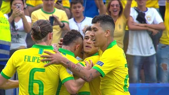 Seleção Brasileira teve altos e baixos durante a primeira fase da Copa América