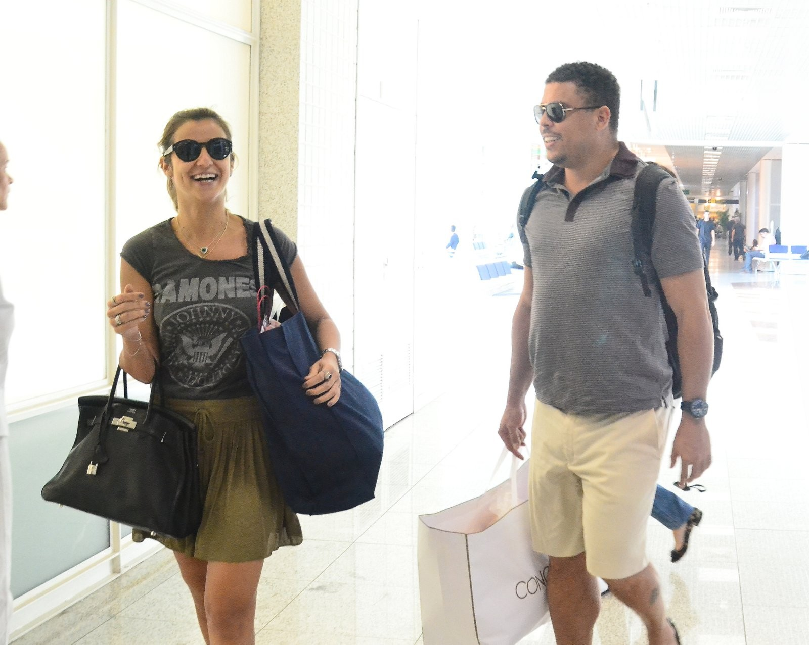 Paula e Ronaldo (Foto: William Oda/AgNews)