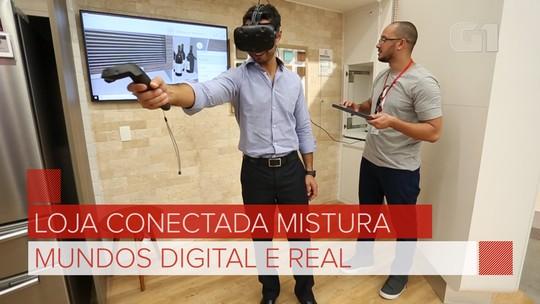 Ponto Frio aposta em 'loja digital', com realidade virtual e vitrine eletrônica, para mudar a cara da rede; veja vídeo