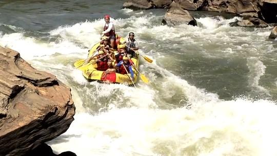 Apresentadores se aventuraram nas águas do Rio Paraíba do Sul