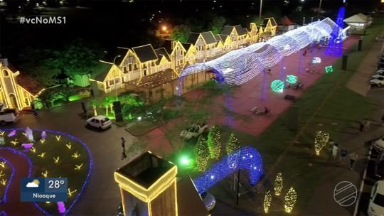 Cidade do Natal abre oficialmente para o público na noite desta sexta em Campo Grande