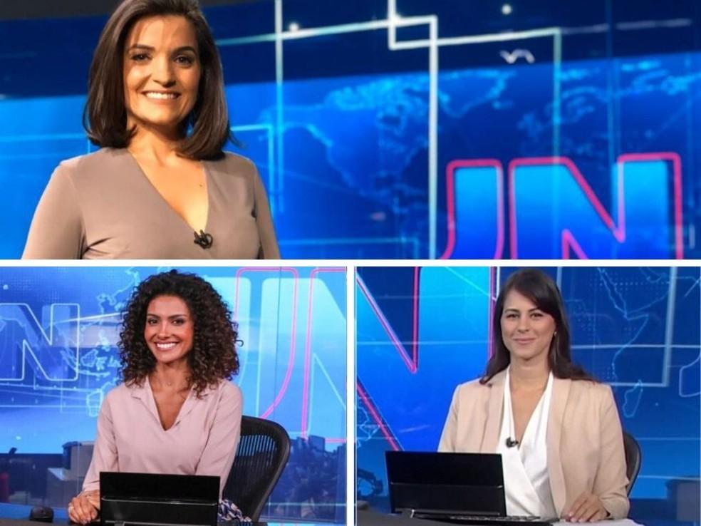 Além de Larissa Pereira, Aline Aguiar e Jéssica Senra também estão na equipe oficial de plantonistas do JN.  — Foto: Programação