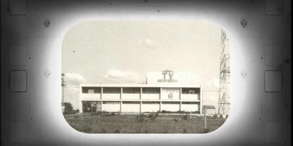TV Morena, 1° emissora de MS, foi fundada por Ueze Zahran em 1965 — Foto: TV Morena/Reprodução