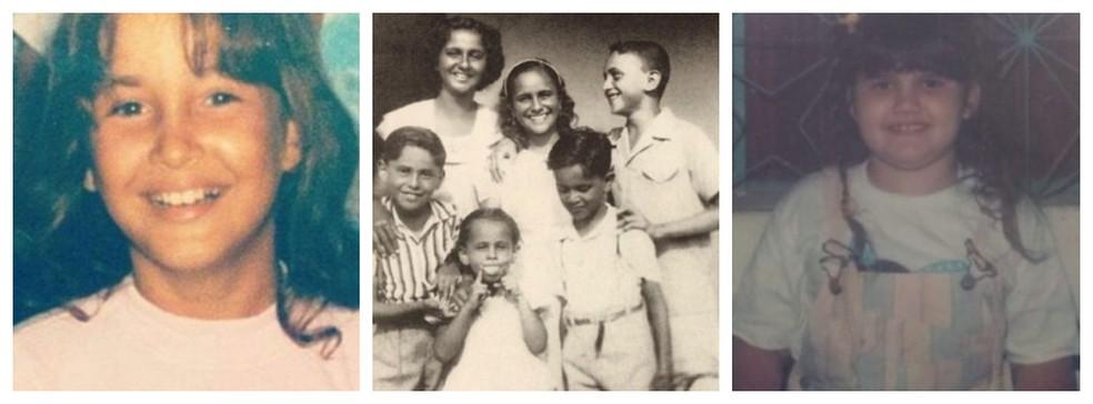 Famosos baianos relembram a infância com fotos nas redes sociais — Foto: Arte g1