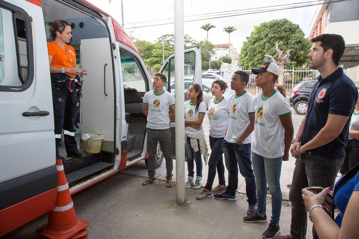Projeto 'Escola Amiga do Samu' é realizado em escolas públicas de Caruaru