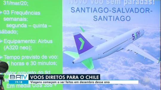 Salvador terá voos diretos para a cidade de Santiago, no Chile