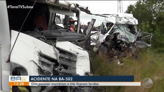 Mortes de 8 pessoas em acidente na Bahia poderiam ser evitadas com cinto de três pontos, diz bombeiro