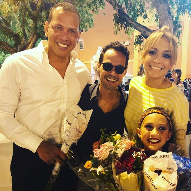 Alex Rodriguez, Marc Anthony, Jennifer Lopez e Emme (Foto: Reprodução/Instagram)